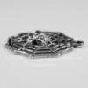 """Подвеска  """"Паутина с паучком"""" (цвет - античное серебро) 32х30 мм"""