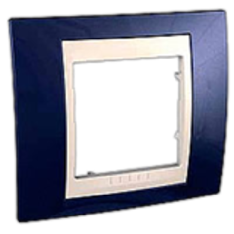 Рамка на 1 пост. Цвет Индиго/Белый. Schneider electric Unica Хамелеон. MGU6.002.842