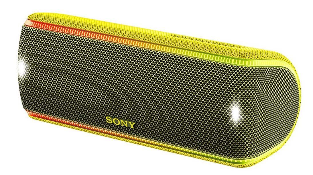 Беспроводная колонка Sony SRS-XB31 жёлтого цвета