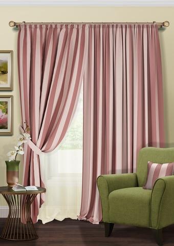 Комплект штор Blackout розовый