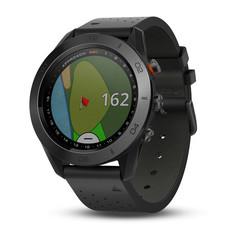 Умные часы для гольфа Garmin Approach S60 Premium чёрные с кожаным ремешком 010-01702-02