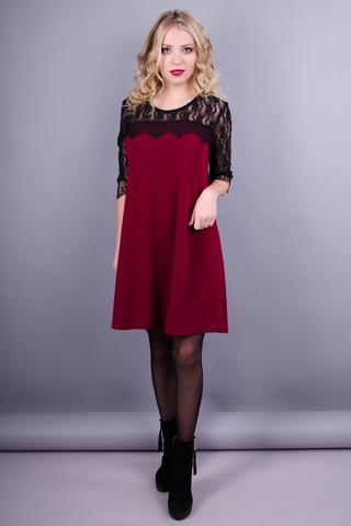 Лайза. Гарна жіноча сукня. Бордо.