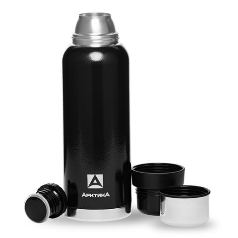 Термос Арктика (1,2 литра) с узким горлом американский дизайн, черный