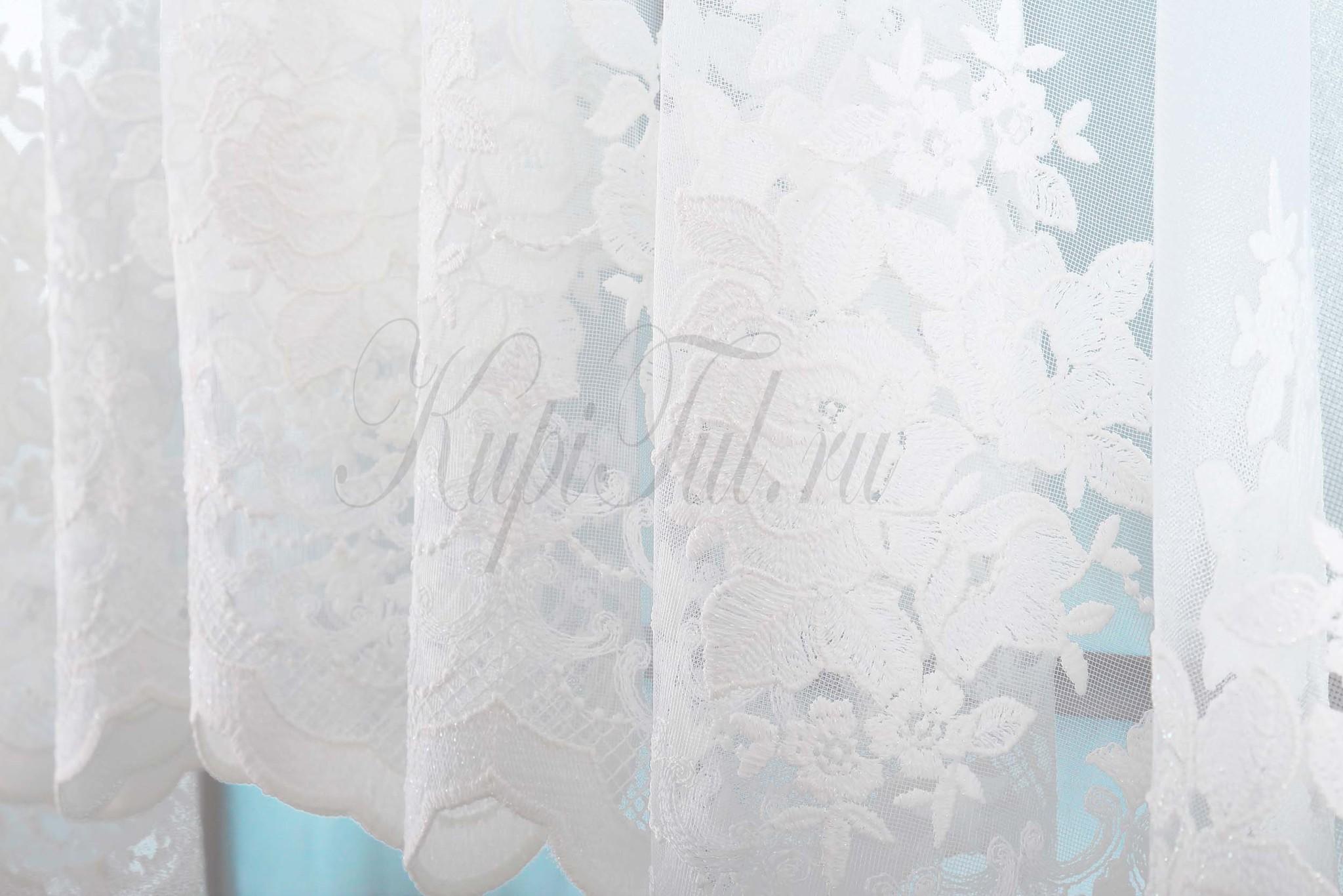 Штора-арка Розы (белая)