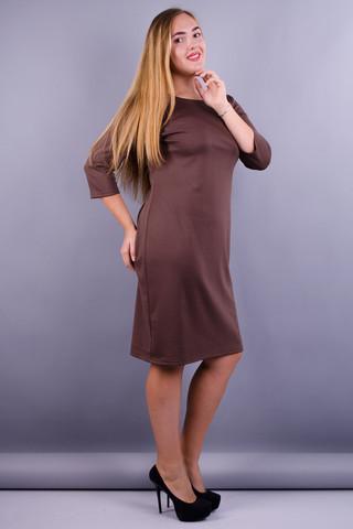 Аріна француз. Сукня на кожен день супер сайз. Беж.