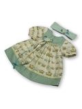Платье - Зеленый. Одежда для кукол, пупсов и мягких игрушек.