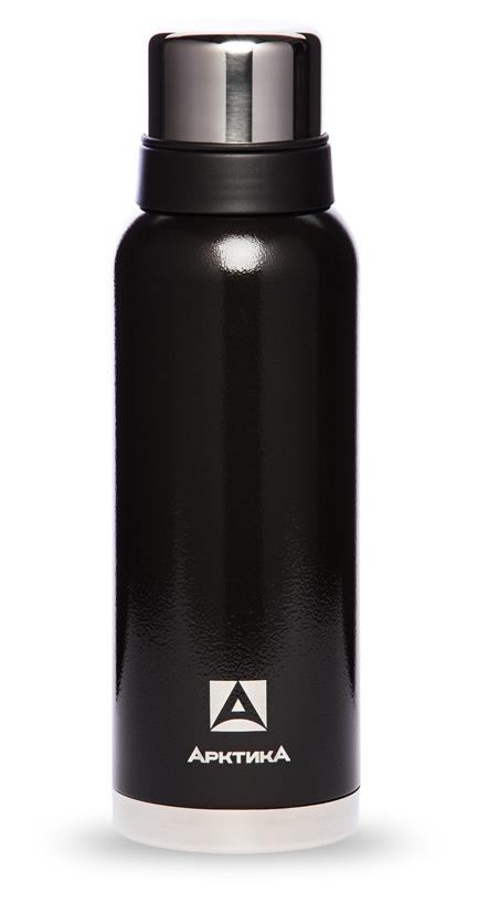 Термос Арктика (1,2 литра) с узким горлом американский дизайн, черный*