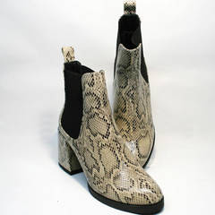 Ботинки женские осень весна Kluchini 13065 k465 Snake.
