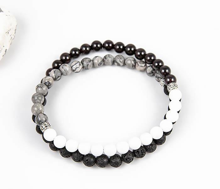 Boroda Design, Двойной браслет ручной работы из разных камней
