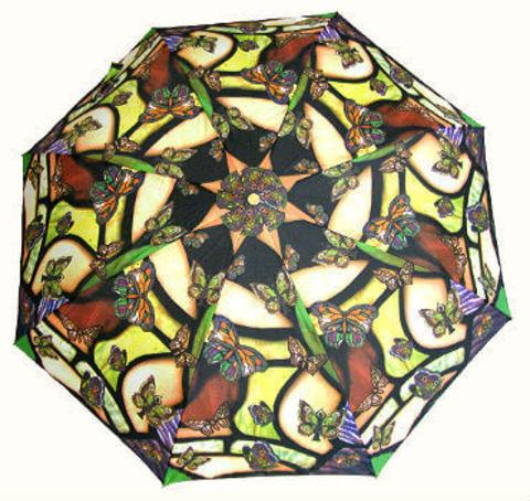 Купить онлайн Зонт складной Guy de Jean 6410-10 Tiffani Butterfly в магазине Зонтофф.