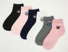 Носки для девочек ( 12 пар) арт.BL2001 (разм 23-28)