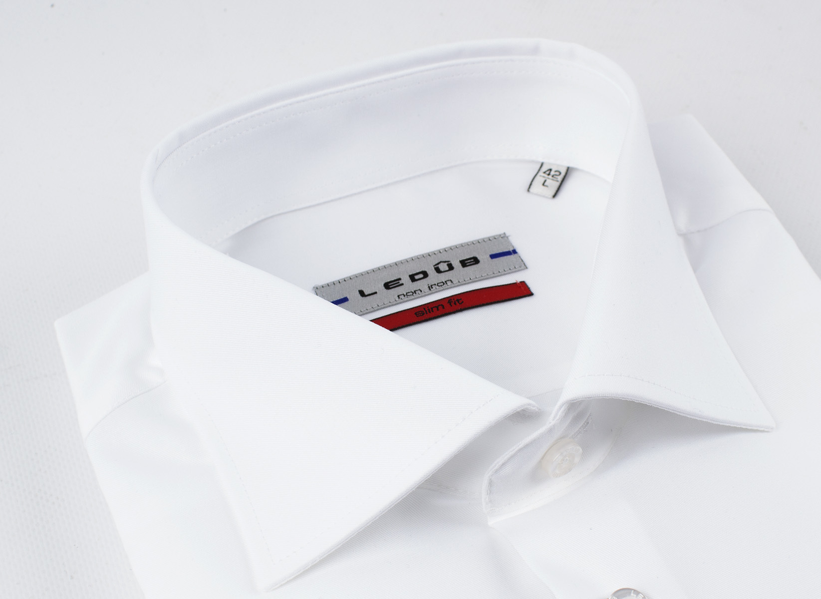 Рубашка Ledub slim fit 0690167-910-000-000-SF-WhiteB