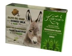Оливковое мыло с молоком ослиц и маслом алоэ Knossos 100 гр