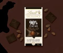 Lindt Excellence Dark Supreme Noir 90% Cocoa, 100g