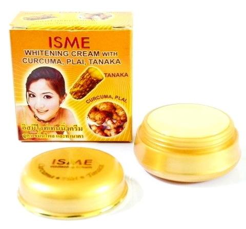 Отбеливающий крем для лица ISME с куркумой, тонакой и имбирем