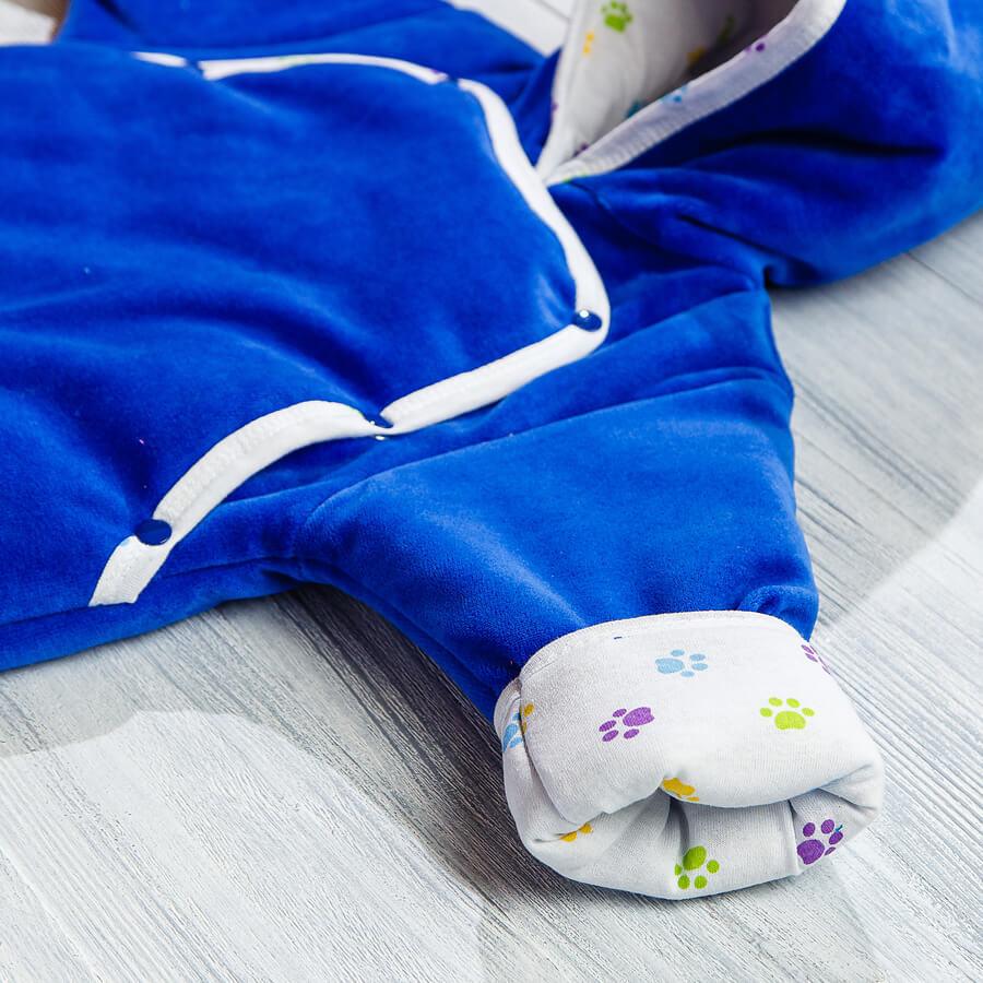 Комбинезон велюровый для новорожденных