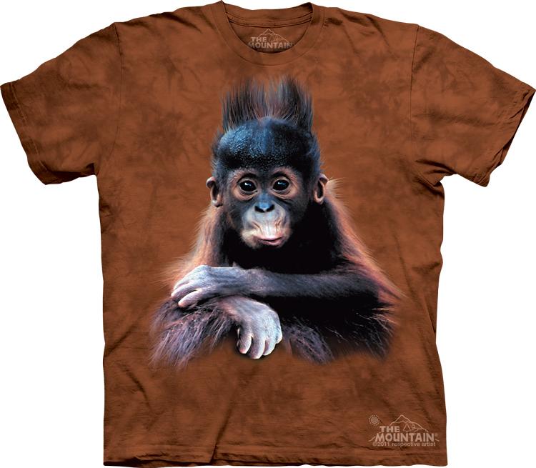_Футболка детская Mountain с изображением детеныша орангутана - Baby Orangutan