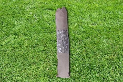 Гамак из льна с планкой серый версаль RG22V