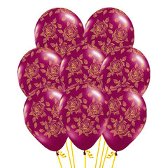 Букет из Воздушных шаров с Элегантными Розами