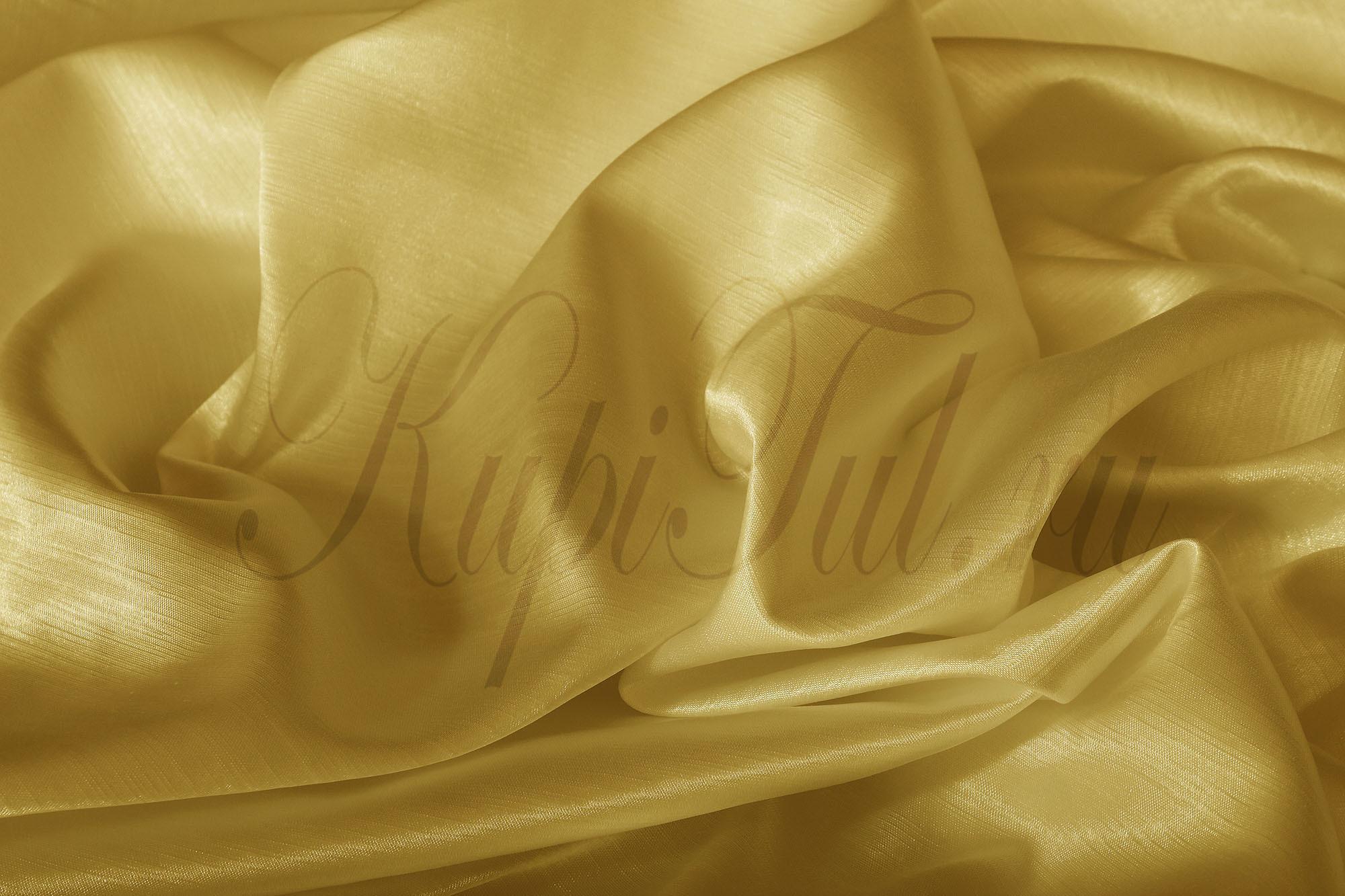 Длинные шторы. Leonardo (Светлое золото),  однотонный шик-сатен.