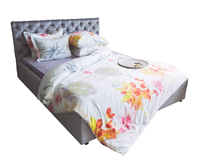 Кровать Венеция, ортопедическое основание, обивка ткань, стеклянные пуговицы