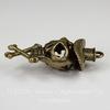 """Подвеска - кулон металлическая """"Скелет в шляпе"""" (цвет - античная бронза) 45х27 мм"""