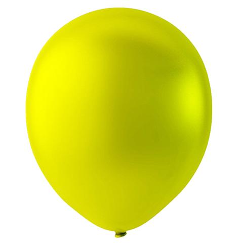 Шар Желтый Металлик, 30 см