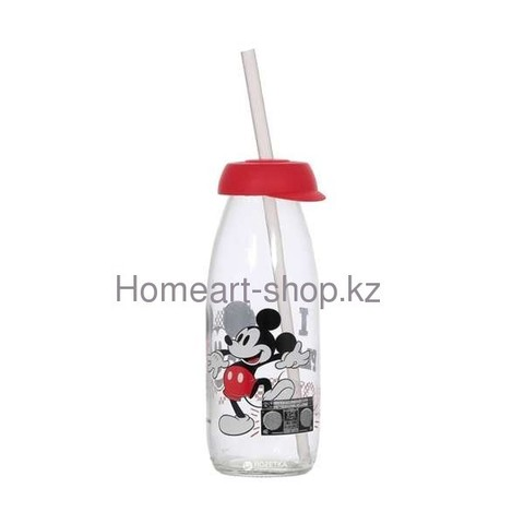 Бутылка детская с трубочкой mickey mouse 250 мл ;