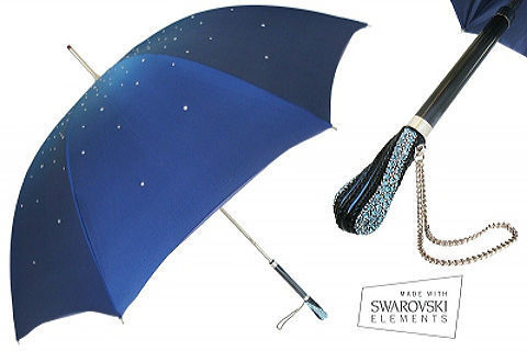 Зонт-трость Pasotti 185-34S3 BLU SWAROVSKI