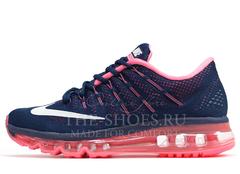 Кроссовки Женские Nike Air Max 2016 Blue Pink