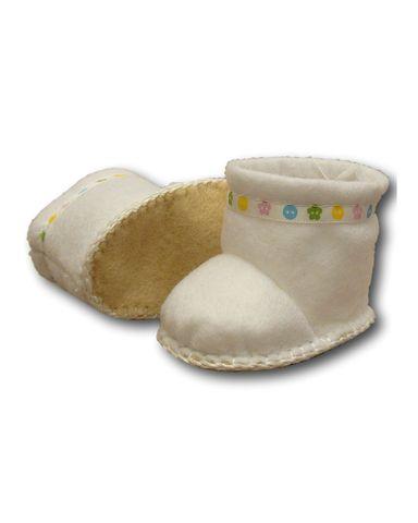 Сапожки-угги из фетра - Белый. Одежда для кукол, пупсов и мягких игрушек.