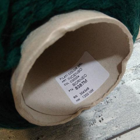 Полушерсть с акрилом FILATI COLOR SRL цвет зеленый