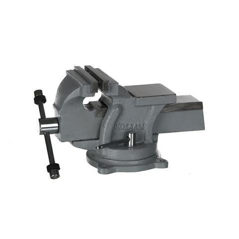 Тиски слесарные поворотные КОБАЛЬТ стальные, ширина губок 100 мм, захват 100 мм, 7 кг,  на (248-962)
