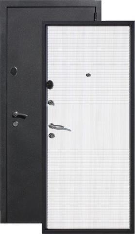 Дверь входная Бронин Грань 75 Муар, 2 замка, 1,4 мм  металл, (чёрный муар+дуб светлый)
