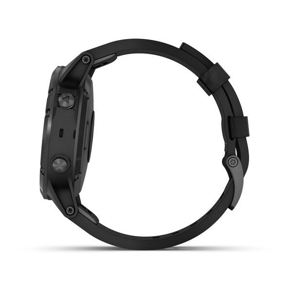 Fenix 5 Plus Sapphire черные с черным кожаным ремешком