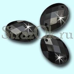 Стразы пришивные акриловые Oval Jet, Овал Джет черный в интернет-магазине StrazOK.ru