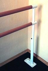 Станок хореографический напольный, двухрядный (2,0м.) поручень - сосна