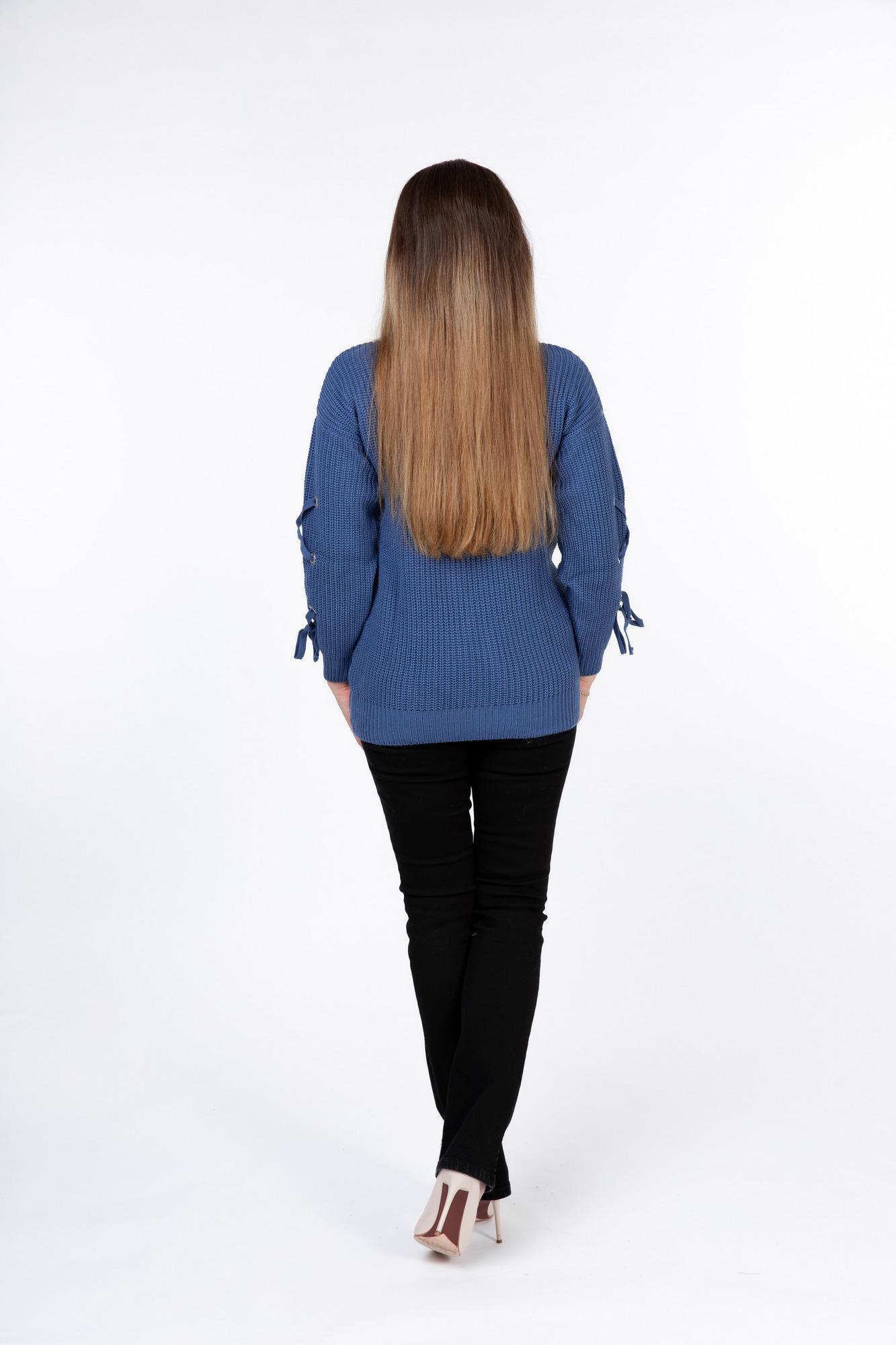 Свитер для беременных 09905 синий