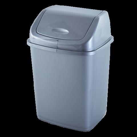 Ведро для мусора 5 л серое