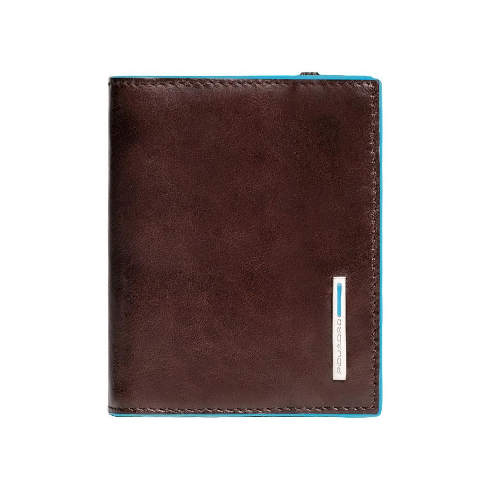 Чехол для кредитных/визитных карт Piquadro Blue Square, цвет коричневый, 8,8x10,5x1,2 см (PP1395B2/MO)