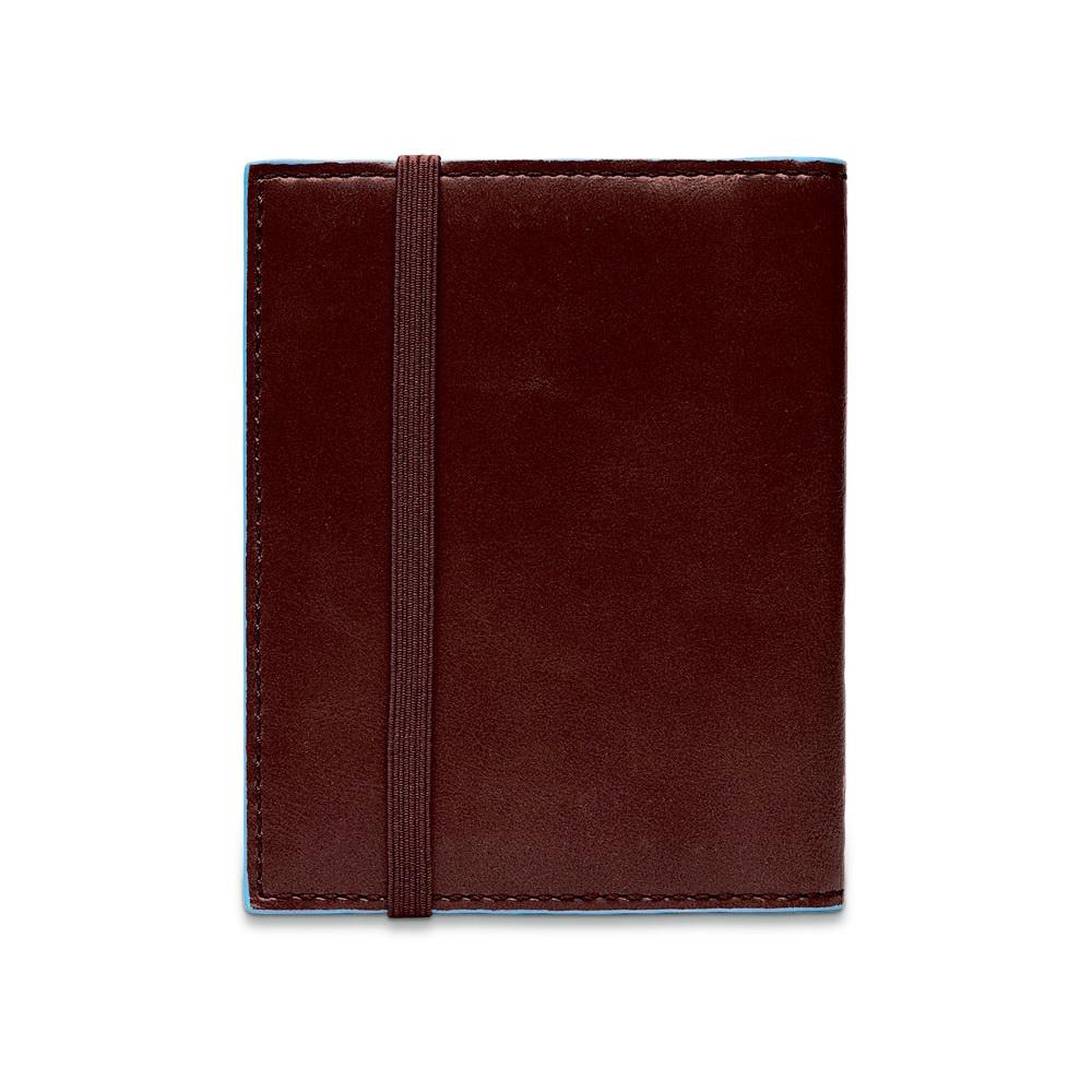 Чехол для кредитных/визитных карт Piquadro Blue Square, цвет коричневый, 8,8x10,5x1,2 см (PP1395B2/M