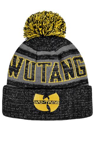 Шапка Wu Tang темно-серая с желтым