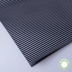 Бумага упаковочная черная (полосатая) 60*60см