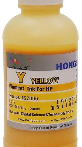 Чернила пигментные DCTec Z2100M Yellow. 200мл. Серия 197690