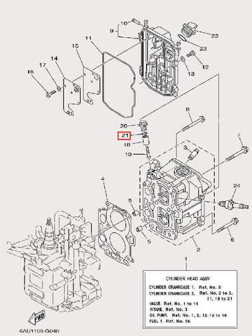 Кольцо уплотнительное для лодочного мотора F9,9 Sea-PRO (4-21)