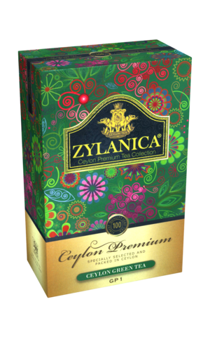 ЧАЙ ZYLANICA зеленый Ceylon Premium Collection 100 гр