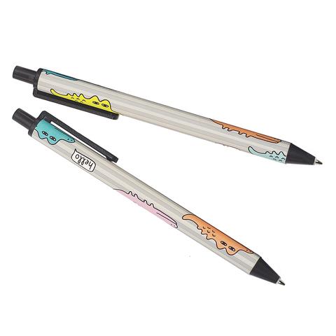 Ручка гелевая черная Croco