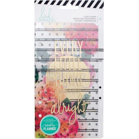 Ацетатные разделители для ежедневника Heidi Swapp Personal Memory Planner   - 10х18 см