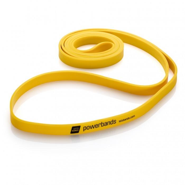 Продукция Let's Bands Эспандер-лента POWERBANDS MAX (легкое сопротивление, желтый) maxband-solo-yellow-02.jpg
