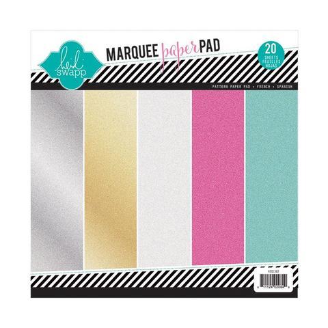 Набор бумаги 21,5*21,5 см с глиттером от Heidi Swapp Glitter Paper Pad - Marquee Love-20 л
